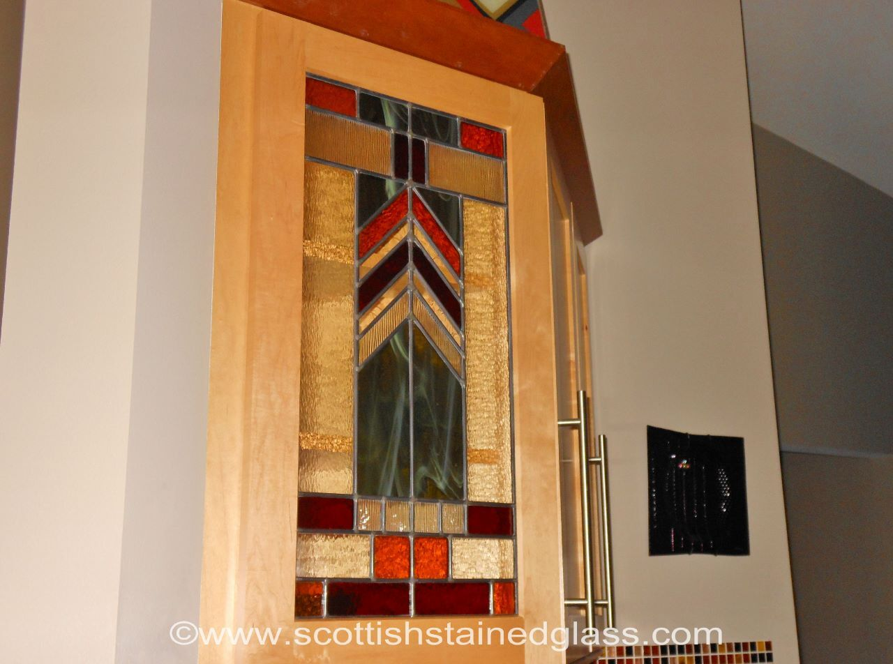 Custom Stained Glass from Scottish for Your Kitchen Cabinets, Wine Cellars, and Pantry Doors